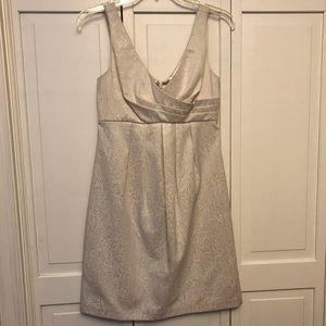 WhiteHouse BlackMarket Champagne Sleeveless Dress